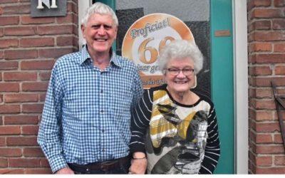 Jan en Narda Kruithof 60 jaar getrouwd.